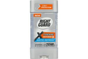 Right Guard Xtreme Defense 5 Antiperspirant Arctic Rrefresh