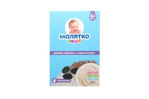 Каша Малятко безмолочная рис с гречкой и чернослив