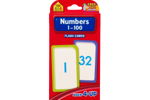 School Zone Flash Cards Numbers 1-100 (Ages 4-Up)