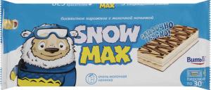 Тістечко бісквітне з молочною начинкою Snow Max Витьба м/у 5х30г