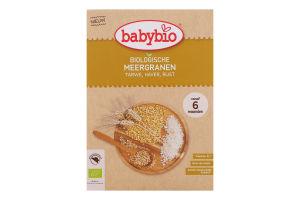 Каша для детей от 6мес органическая злаковая с фруктами и киноа BabyBio к/у 200г