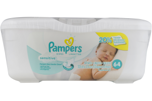Pampers Baby Wipes Sensitive - 64 CT