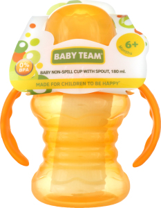 Поильник-непроливайка со спаутом 180мл Baby Team 1шт