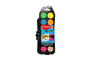 Краски акварель Maped Color Peps +кисточка 12цв