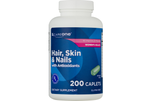 CareOne Hair, Skin & Nails Dietary Supplement Caplets - 200 CT