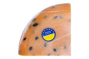 Сыр 55% твердый с тыквенными семечками Гауда Orange Європейська сироварня кг