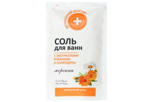 Домашній Доктор Сіль для ванни 500 г, ромашка і календула Ельфа (Україна, Коростень) (СА АРОНИЯ)