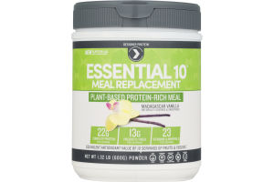 Designer Protein Essential 10 Meal Replacement Plant-Based Protein-Rich Meal Vanilla