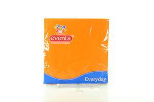Салфетка столовая оранжевая Eventa 33*33 20шт