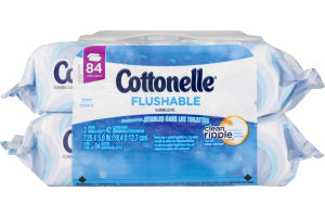 Cottonelle FreshCare Clean Ripple Flushable Wipes - 84 CT