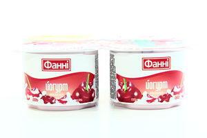 Йогурт Фанні Вишня 1,5% 4*120г х3