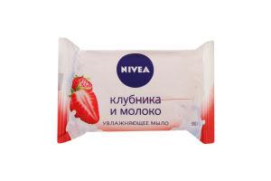 Мыло-уход клубника и молоко Nivea м/у 90г