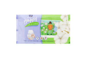 Салфетки влажные Silk&Cotton Happy Baby Bella 64шт