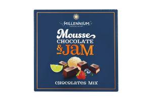 Цукерки шоколадні асорті Mousse&Jam Millennium к/у 180г