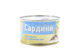Сардини нат.дод.олії №5 Flagman з/б 230г