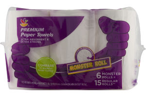 Ahold Premium Paper Towels Monster Roll - 6 CT