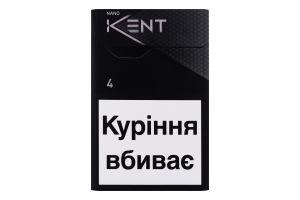 Цигарки з вугільним фільтром Nano Silver Kent 20шт