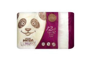 Бумага туалетная 3-х слойная Pure Luxury Сніжна панда 12шт