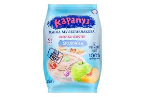 Каша молочная мультизлаковая для детей от 6мес Яблоко-персик Карапуз м/у 225г