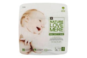 Подгузники для детей размер 4 9-12кг Magic soft fit band NatureLoveMere 22шт