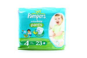 Подгузники-трусики детские для мальчиков 9-14кг Maxi Active boy Pampers 23шт