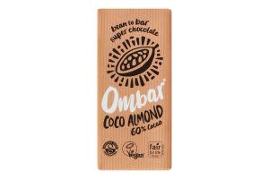 Шоколад черный Ombar кокос-миндаль 60% какао