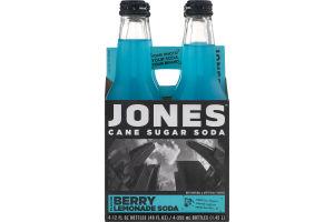 Jones Cane Sugar Soda Berry Lemonade - 4 CT