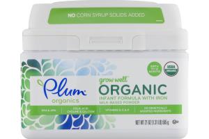 Plum Organics Grow Well Organic Infant Formula with Iron