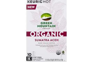 Green Mountain Coffee Organic Dark Roast Coffee K-Cup Pods Sumatra Aceh - 10 CT