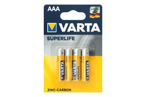 Батарейка AAA 1.5V R03 Varta 4шт