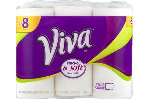 Viva Tough When Wet White Paper Towels - 6 CT