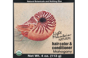Light Mountain Natural Hair Color & Conditioner Mahogany