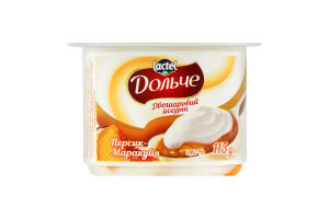 Йогурт 3.2% двухслойный Персик-маракуйя Дольче ст 115г
