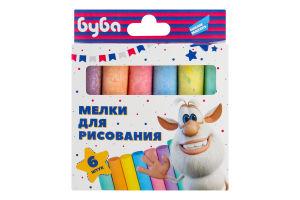 Крейда для дітей від 3років для малювання №MLB06LL Буба Dream makers 6шт
