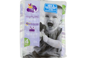 Always My Baby Diapers Size 4 (22-37 lbs) - 28 CT