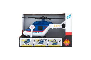 Іграшка для дітей від 3років №2018-1Е Гелікоптер поліцейський Big Motors 1шт