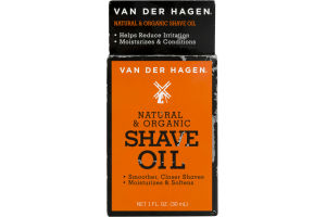 Van Der Hagen Natural & Organic Shave Oil
