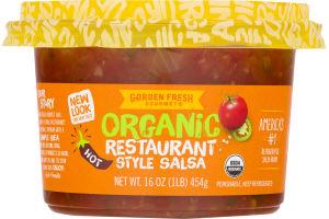 Garden Fresh Gourmet Organic Salsa Restaurant Style Hot