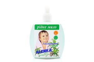 Мыло для ухода за детской кожей жидкое антибактериальное с экстрактом алоэ Alenka 200г
