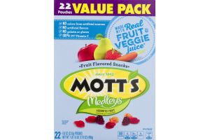 Mott's Medleys Fruit Flavored Snacks Assorted Fruit - 22 CT