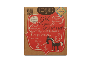 Сок Лавка традицій яблочно-клубничный Коник
