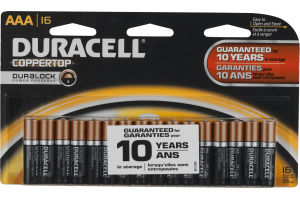 Duracell Coppertop Alkaline Batteries AAA - 16 CT