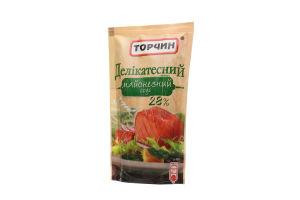 Соус майонезный 28% Деликатесный Торчин д/п 160г