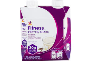 Ahold Fitness Protein Shake Vanilla - 4 CT