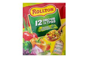 Приправа універсальна гранульована 12 овочів та трав Rollton м/у 60г