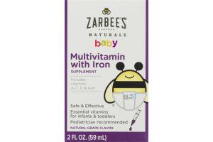 Zarbee's Naturals Baby Multivitamin with Iron Grape Flavor
