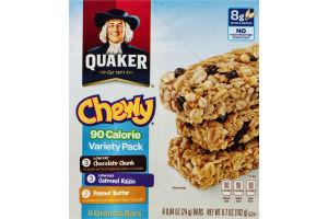 Quaker Chewy 90 Calorie Granola Bars Variety Pack - 8 CT