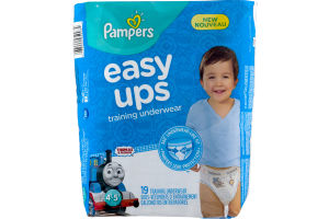 Pampers Easy Ups Training Underwear 4-5 - 19 CT
