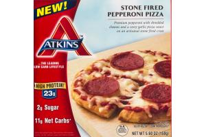 Atkins Stone Fired Pepperoni Pizza