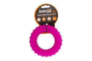 Снаряд тренировочный для собак 12см фиолетовый №88154 Кольцо с шипами Fun AnimAll 1шт